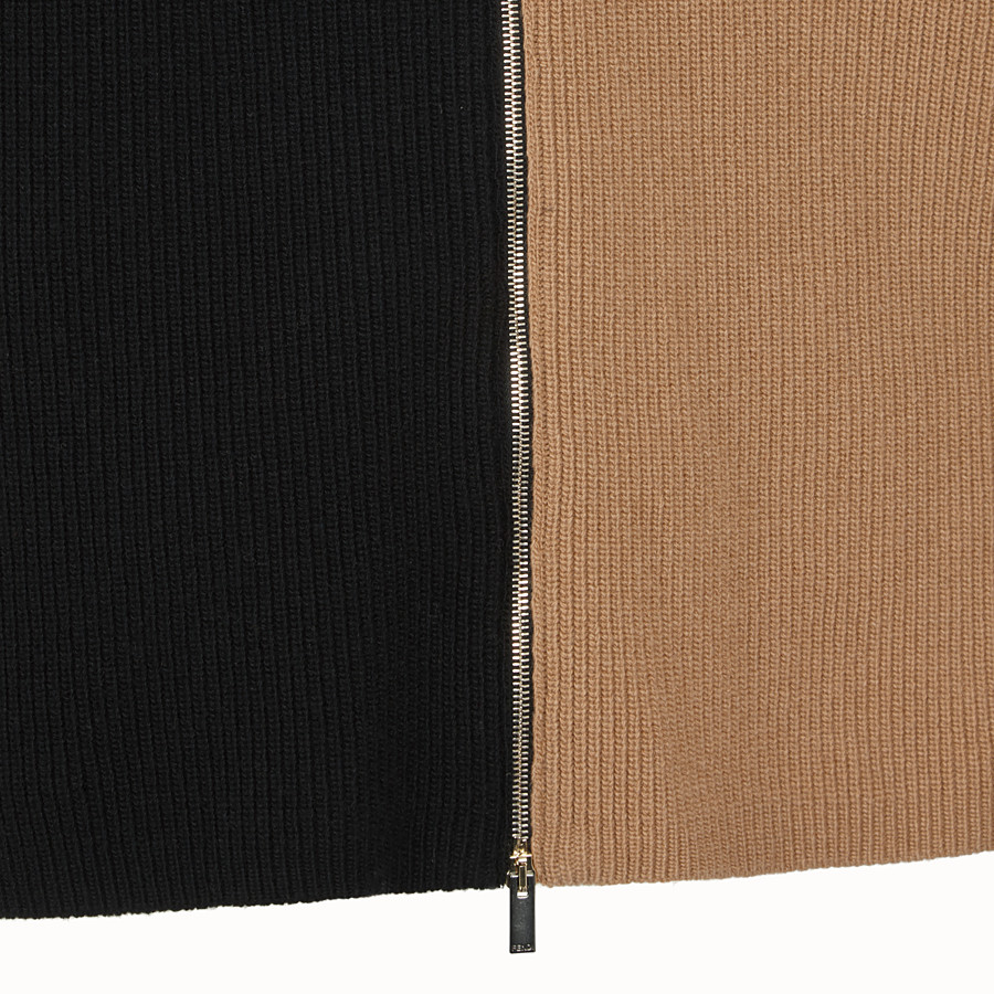 FENDI CARDIGAN - Multicolour wool jumper - view 3 detail
