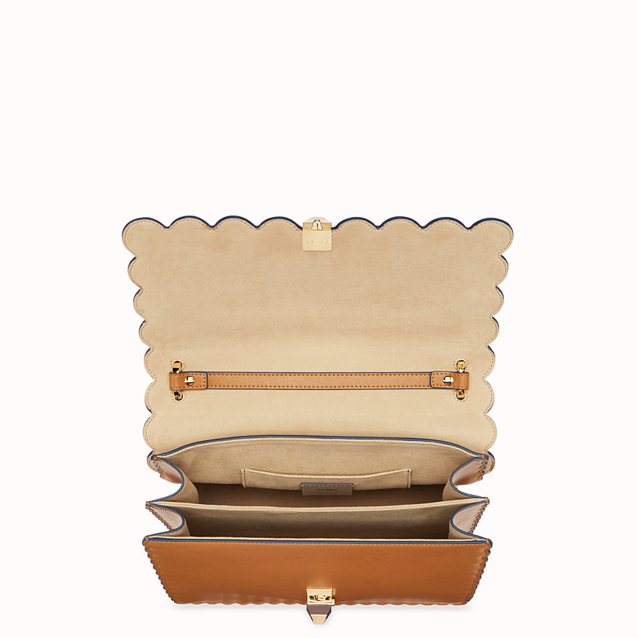 FENDI KAN I - Sac en cuir marron - view 4 detail