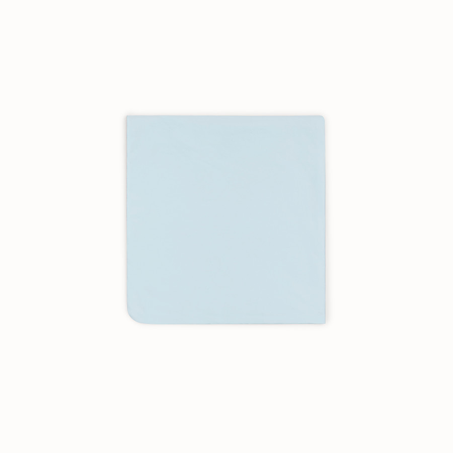 FENDI BABY BLANKET - Gray and sky blue cotton and fleece blanket - view 2 detail