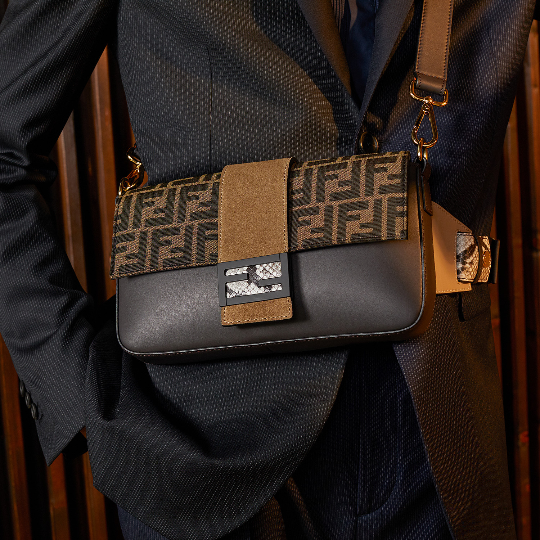FENDI BAGUETTE - Brown calfskin bag - view 7 detail
