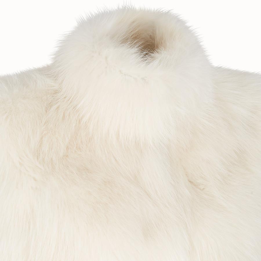 FENDI CAPE - White fur cape - view 3 detail