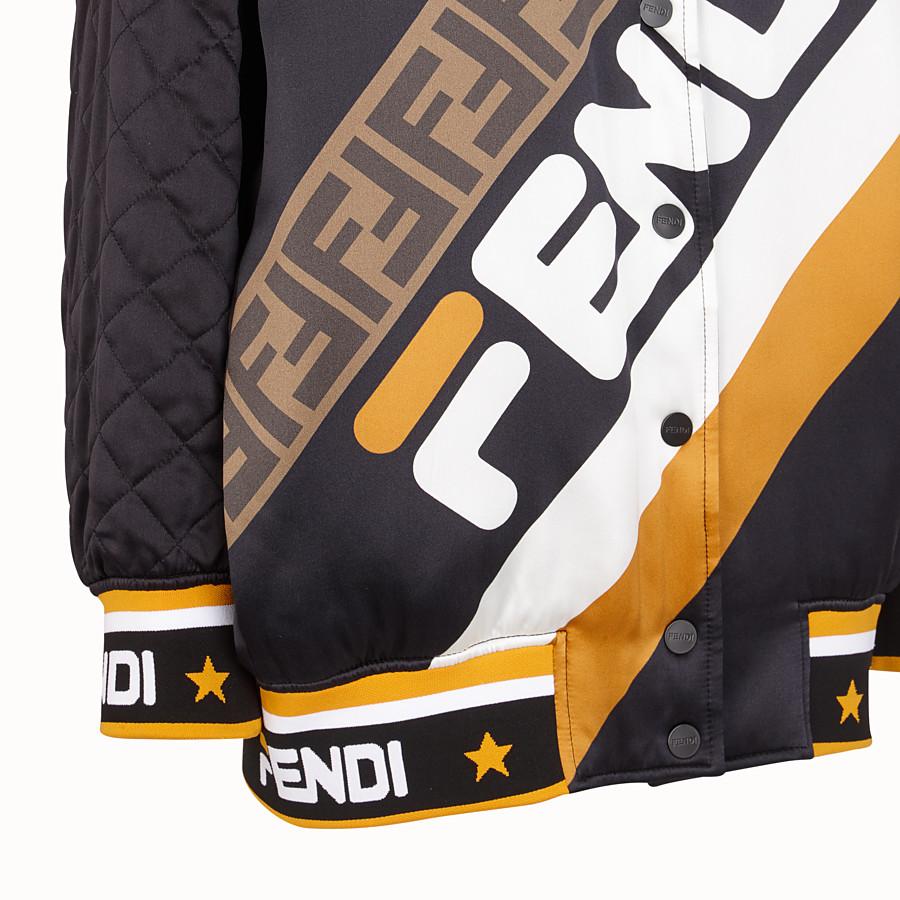 FENDI ジャケット - ブラックサテン ボンバージャケット - view 3 detail