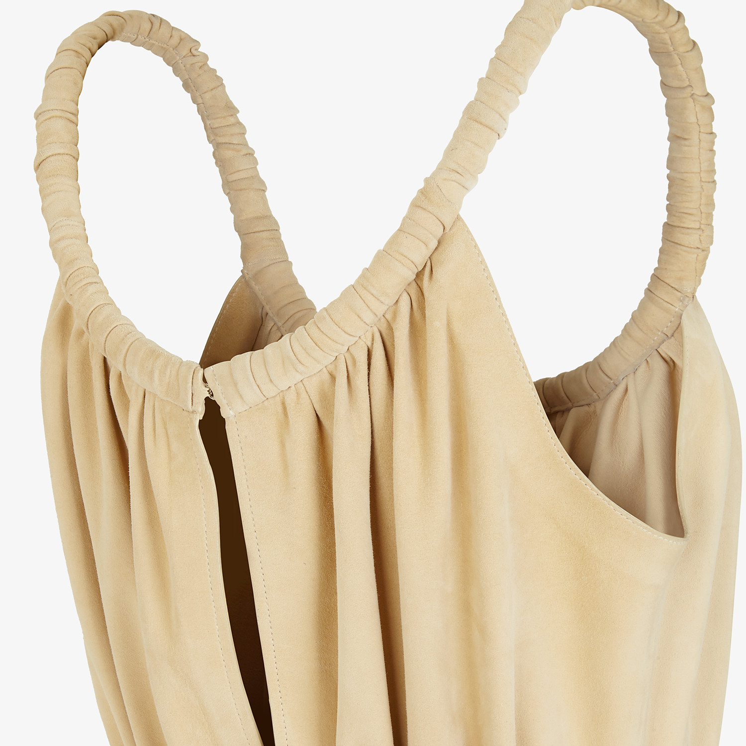 FENDI JUMPSUIT - Beige suede jumpsuit - view 3 detail