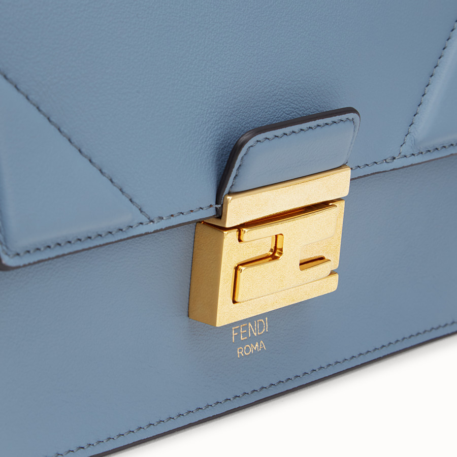 FENDI KAN U SMALL - Light blue leather mini-bag - view 6 detail