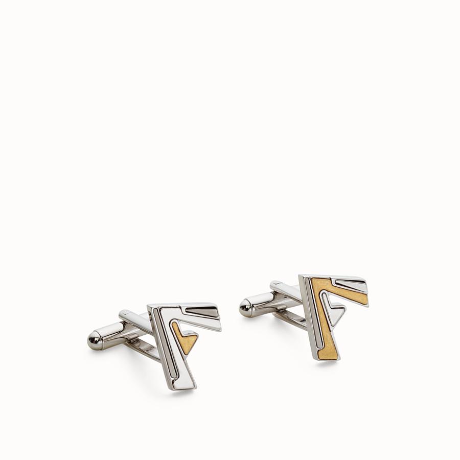FENDI CUFF LINKS - Palladium metal cufflinks - view 1 detail