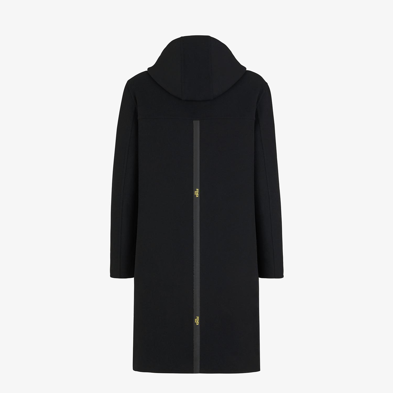 FENDI DUFFEL COAT - Black wool coat - view 2 detail
