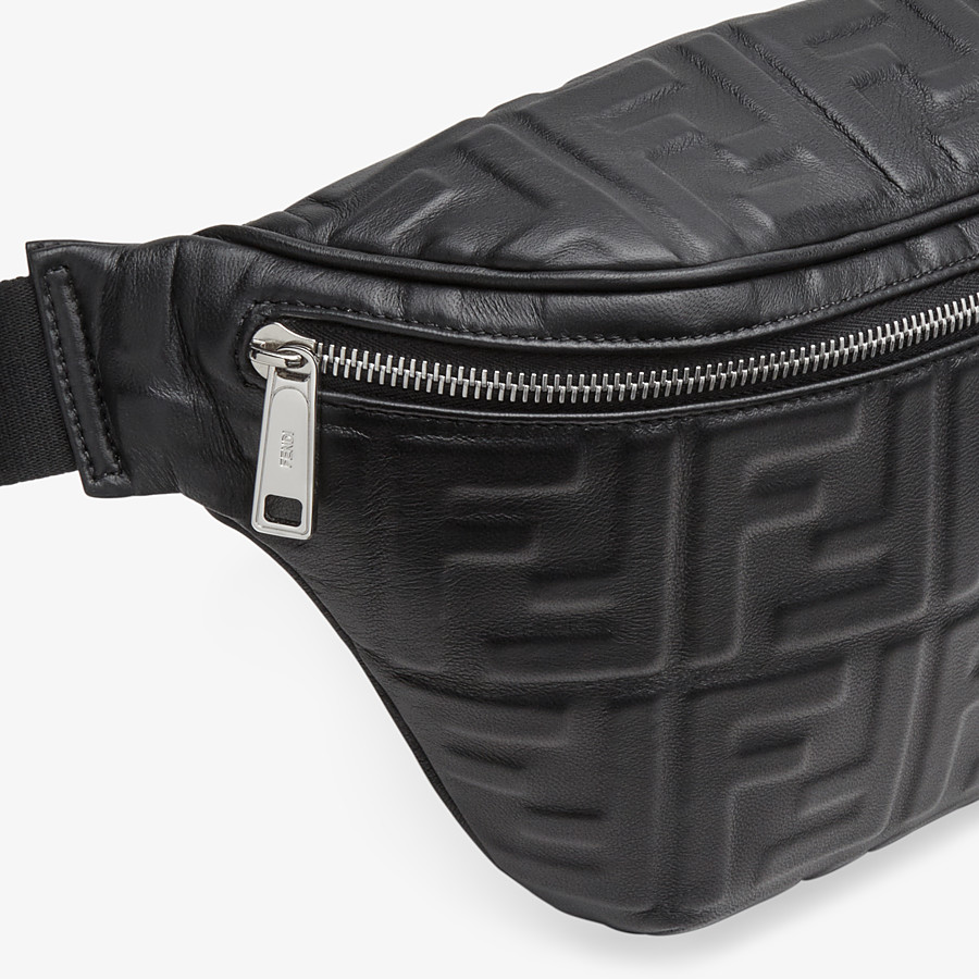 FENDI BELT BAG - Black nappa leather belt bag - view 5 detail
