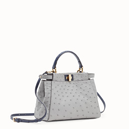 d07cfda6917b White ostrich leather bag - PEEKABOO MINI