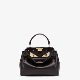 FENDI PEEKABOO ICONIC MINI - Black leather bag - view 1 thumbnail
