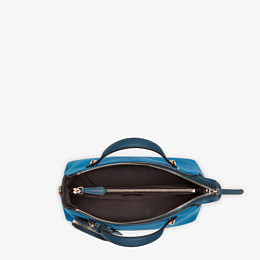 FENDI BY THE WAY MEDIUM - Blue suede Boston bag - view 4 thumbnail