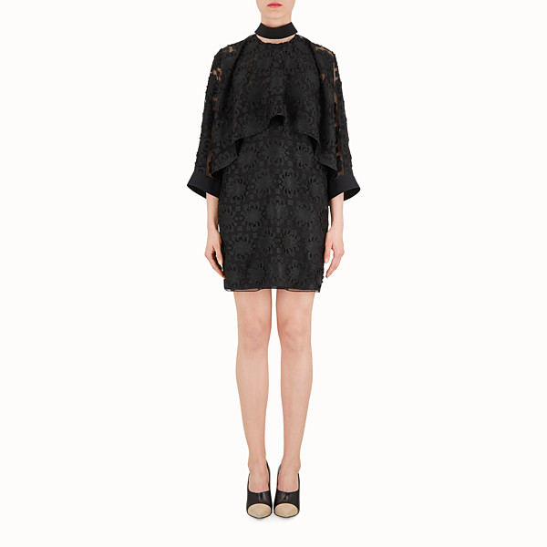 FENDI SHORT DRESS - Black silk dress - view 1 small thumbnail