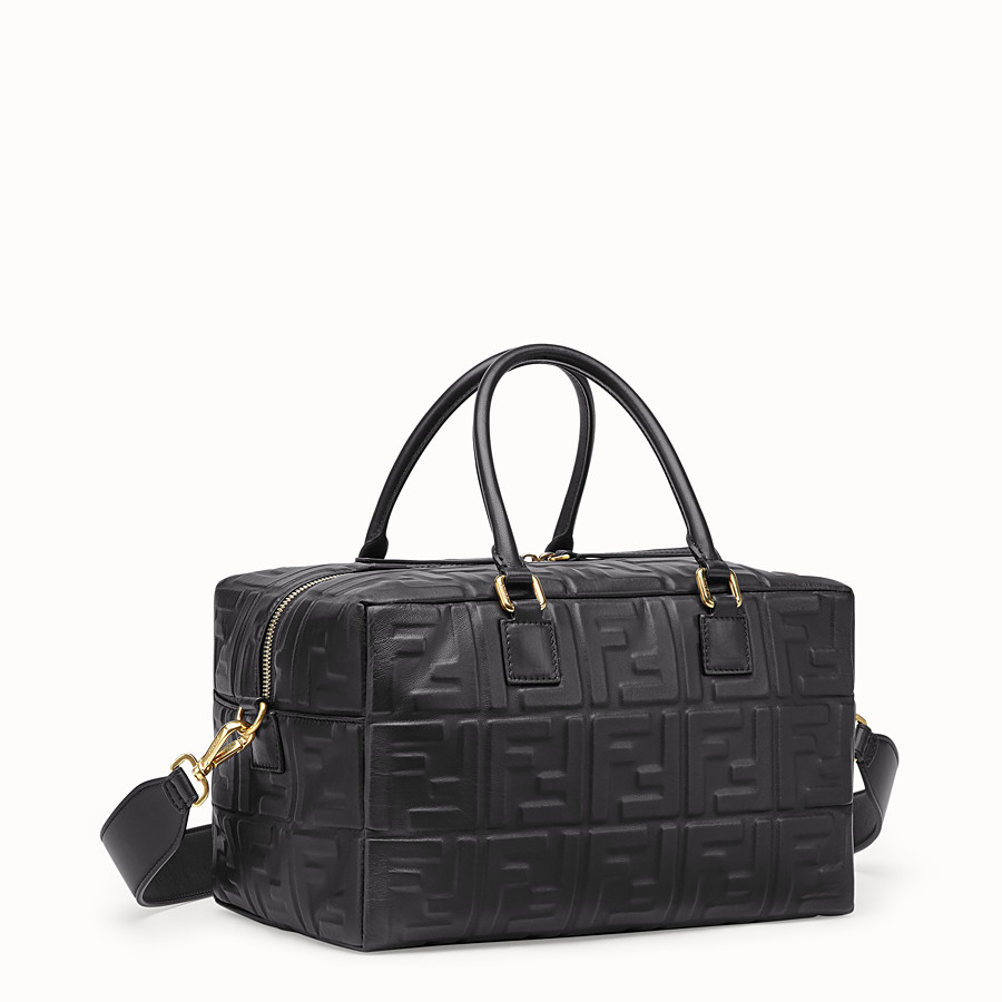 FENDI BOSTON SMALL - Black leather Boston bag - view 2 detail