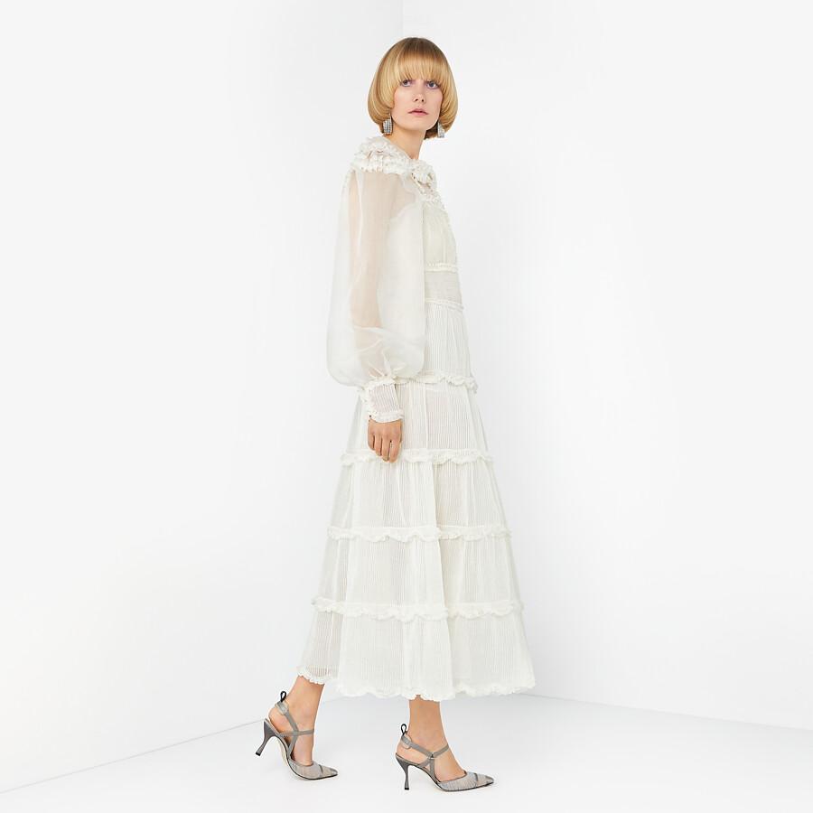 FENDI DRESS - White silk dress - view 4 detail