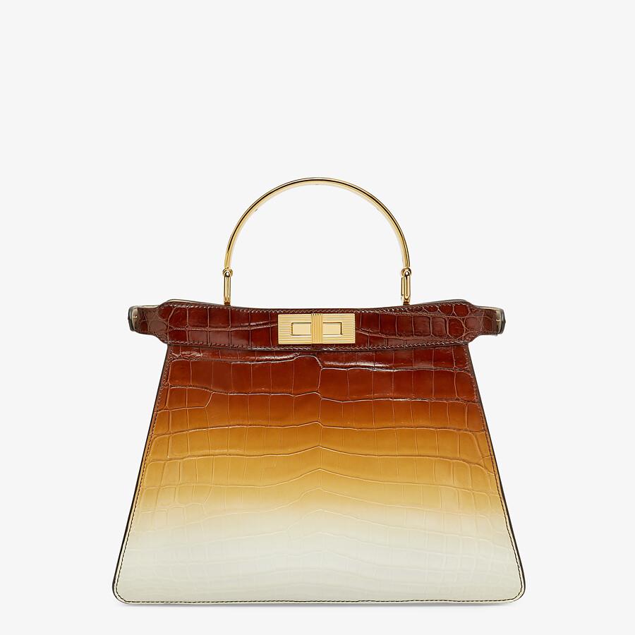 FENDI PEEKABOO ISEEU MEDIUM - Crocodile leather bag in three colors - view 4 detail