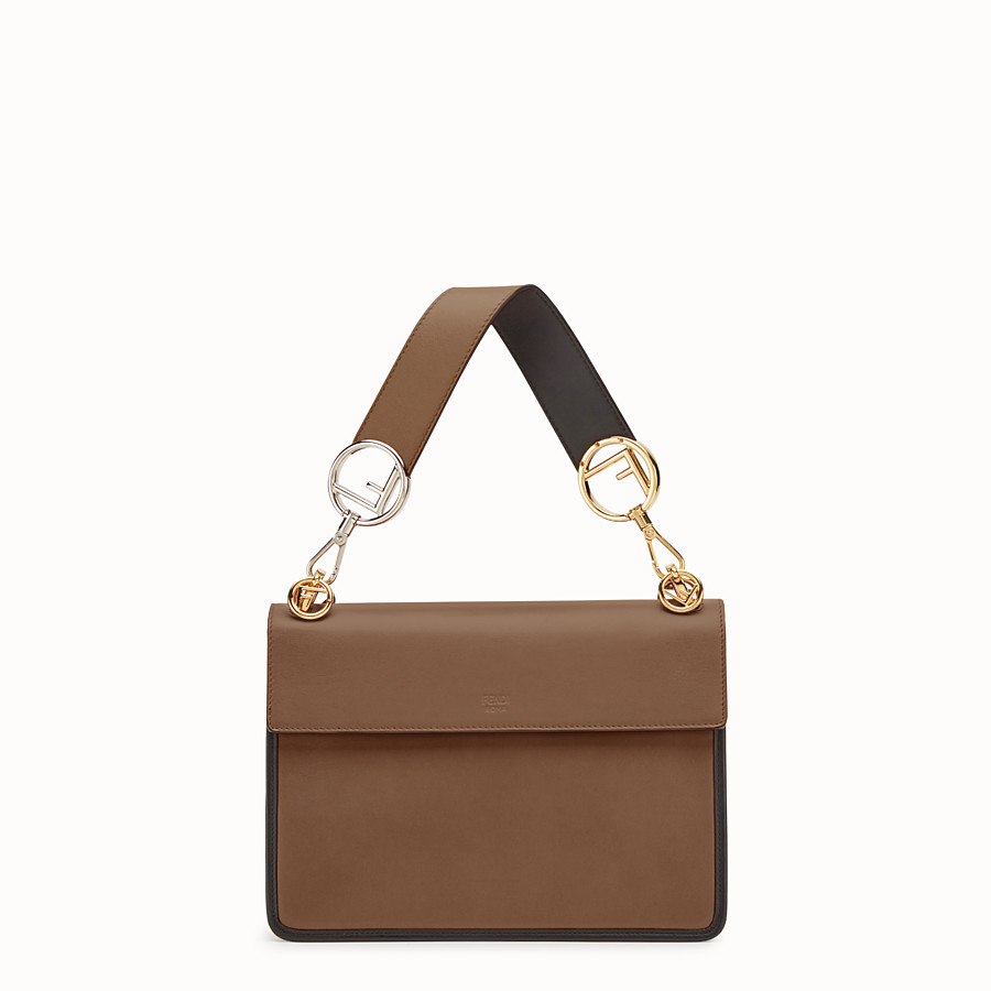 FENDI KAN I F - Brown leather bag - view 3 detail
