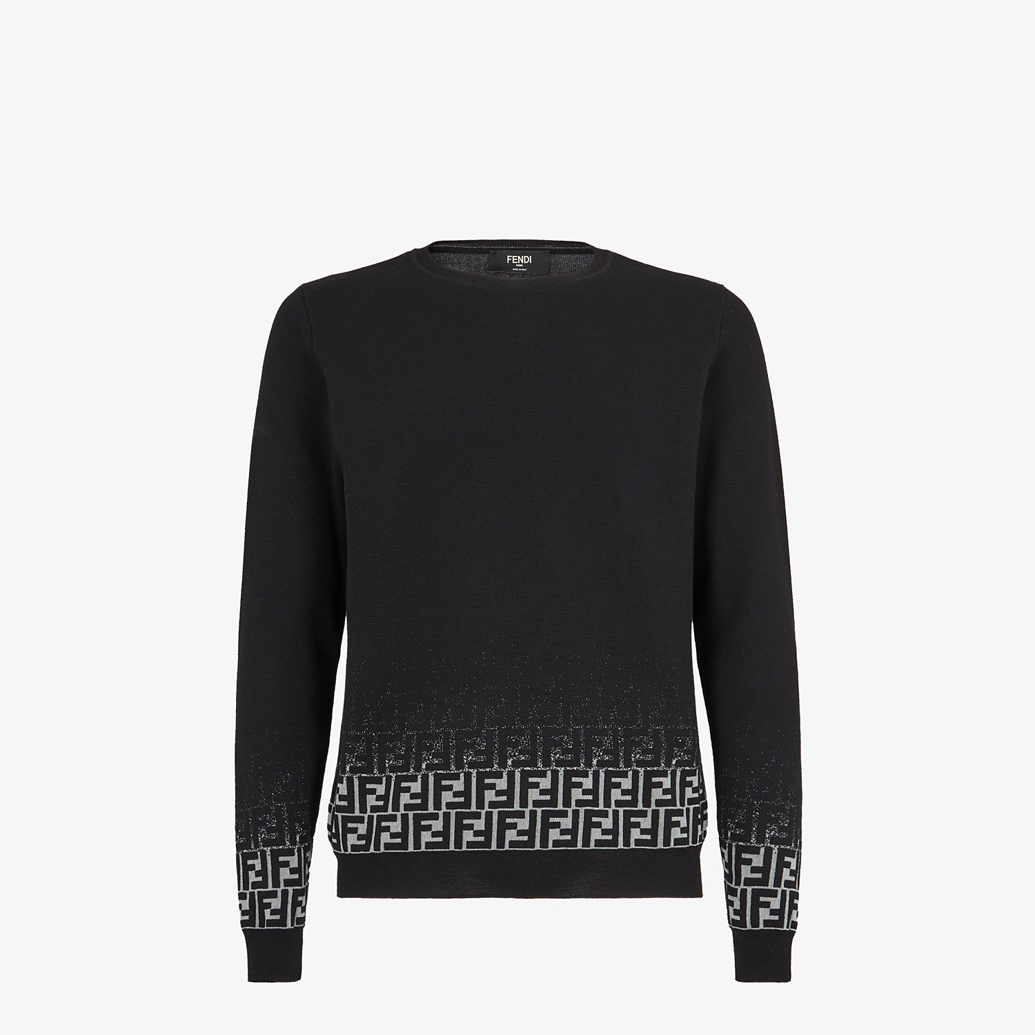 FENDI SWEATER - Black wool sweater - view 1 detail