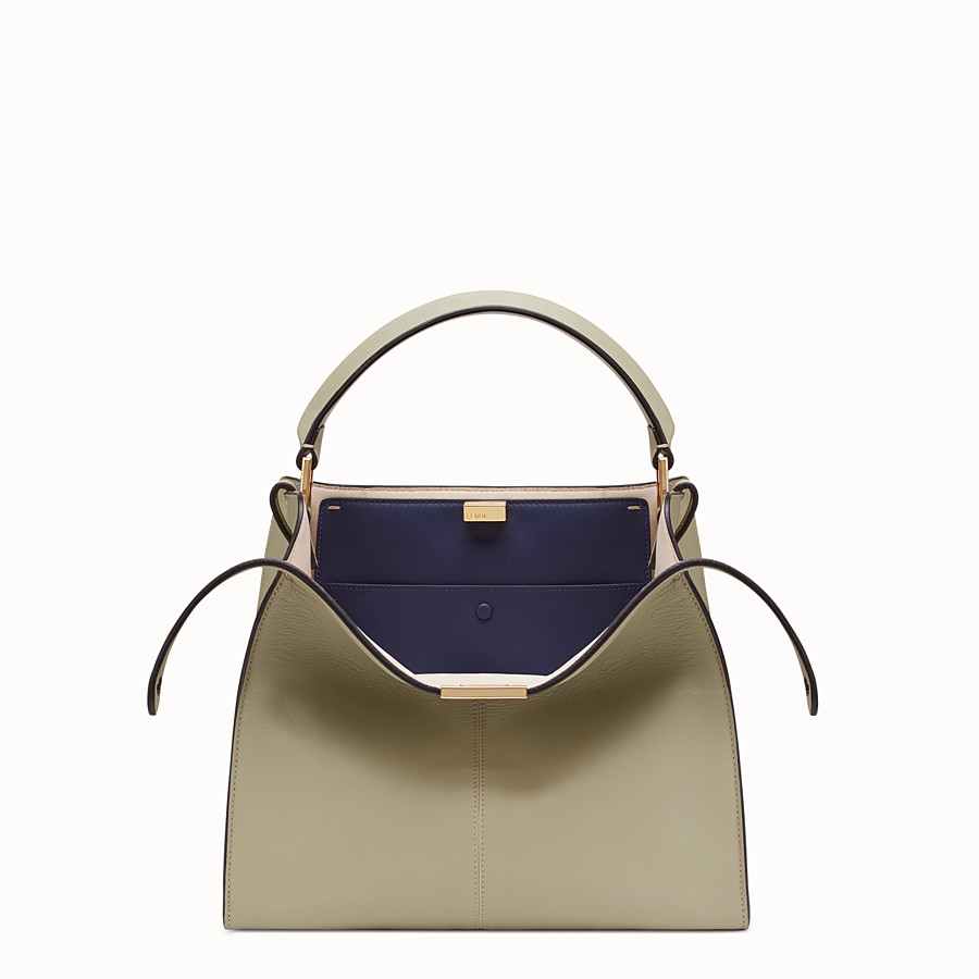 FENDI PEEKABOO X-LITE REGULAR - Sac en cuir beige - view 1 detail