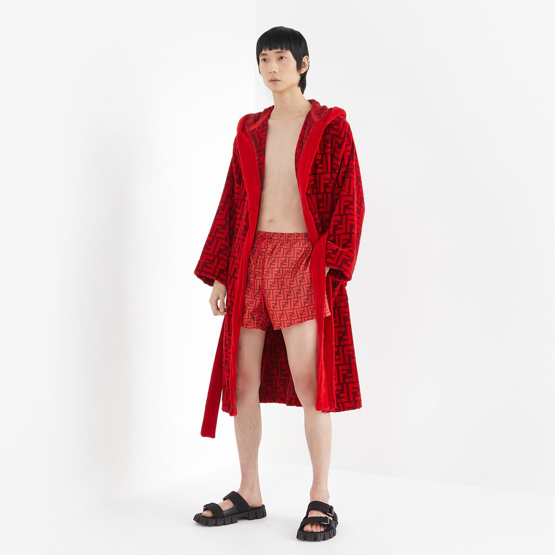 FENDI SWIM SHORTS - Red Lycra® shorts - view 4 detail