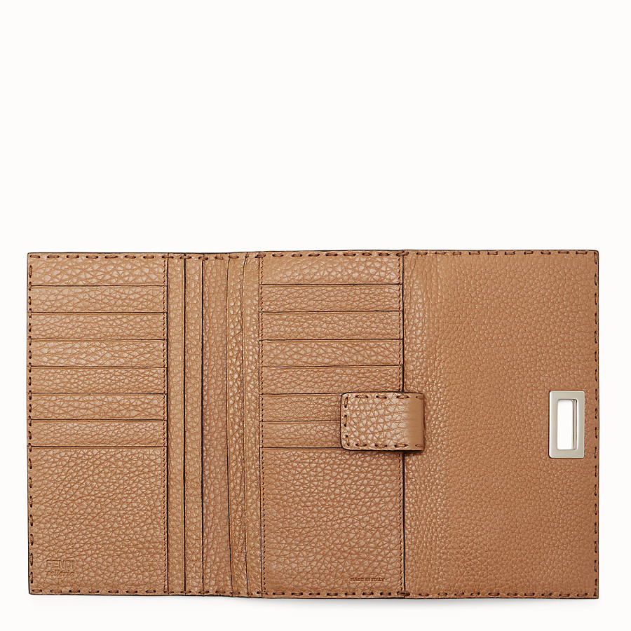 FENDI WALLET - Selleria in toffee Roman leather - view 5 detail