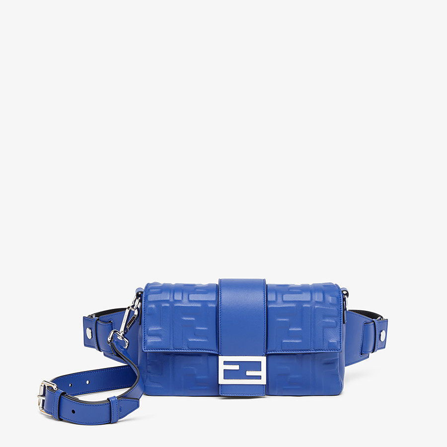 FENDI BAGUETTE - Blue nappa leather bag - view 1 detail