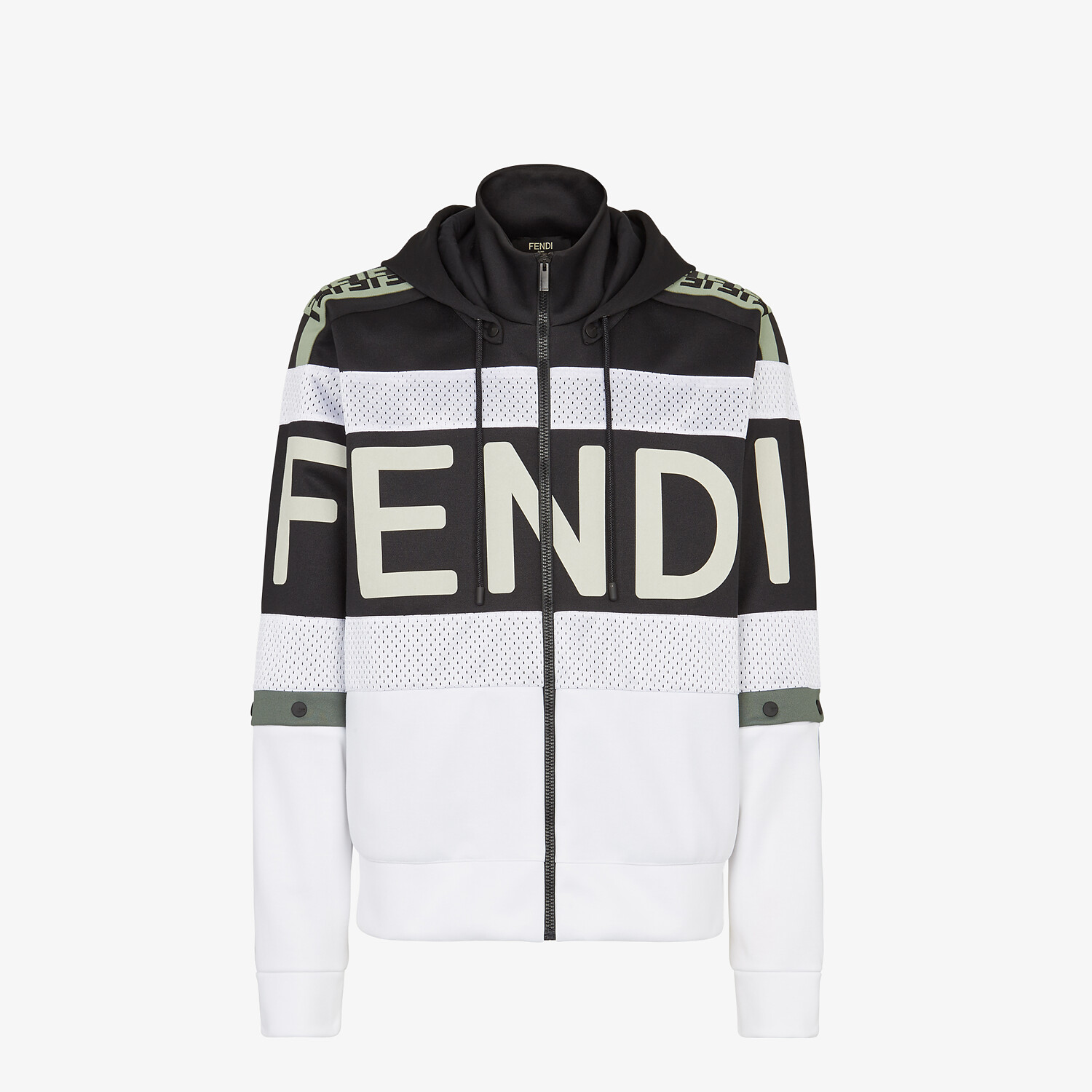 FENDI SWEATSHIRT - Multicolor jersey sweatshirt - view 1 detail