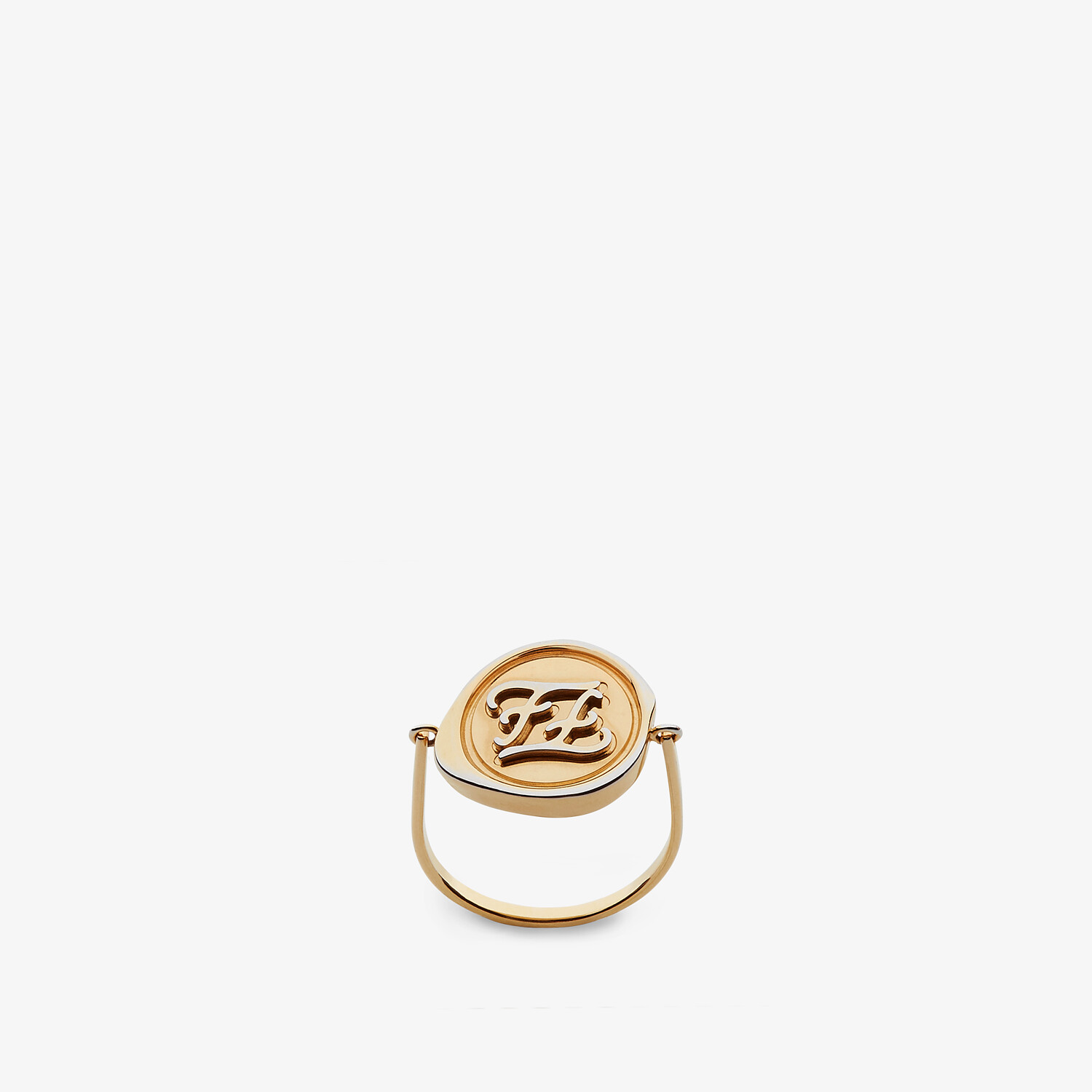 FENDI KARLIGRAPHY RING - Gold-colored ring - view 1 detail