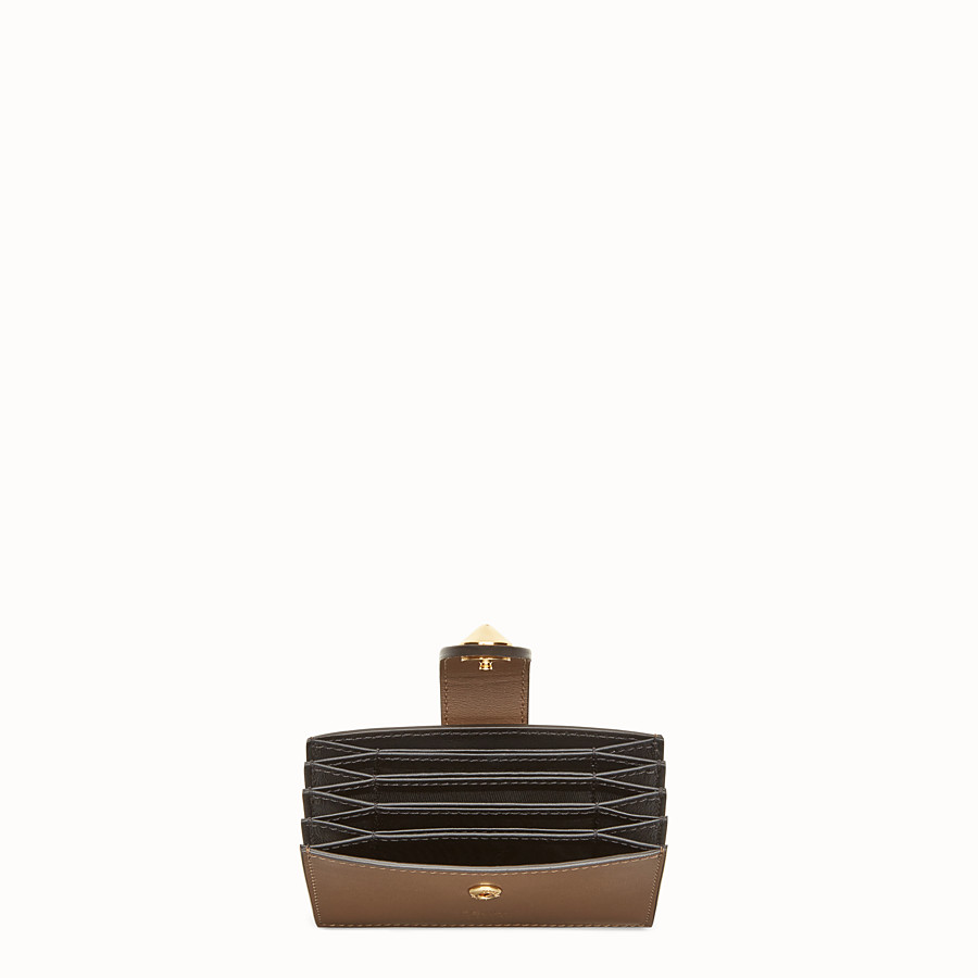 FENDI CARD HOLDER - Multicolour leather gusseted card holder - view 4 detail