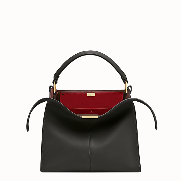FENDI PEEKABOO X-LITE REGULAR - Black leather bag - view 1 small thumbnail