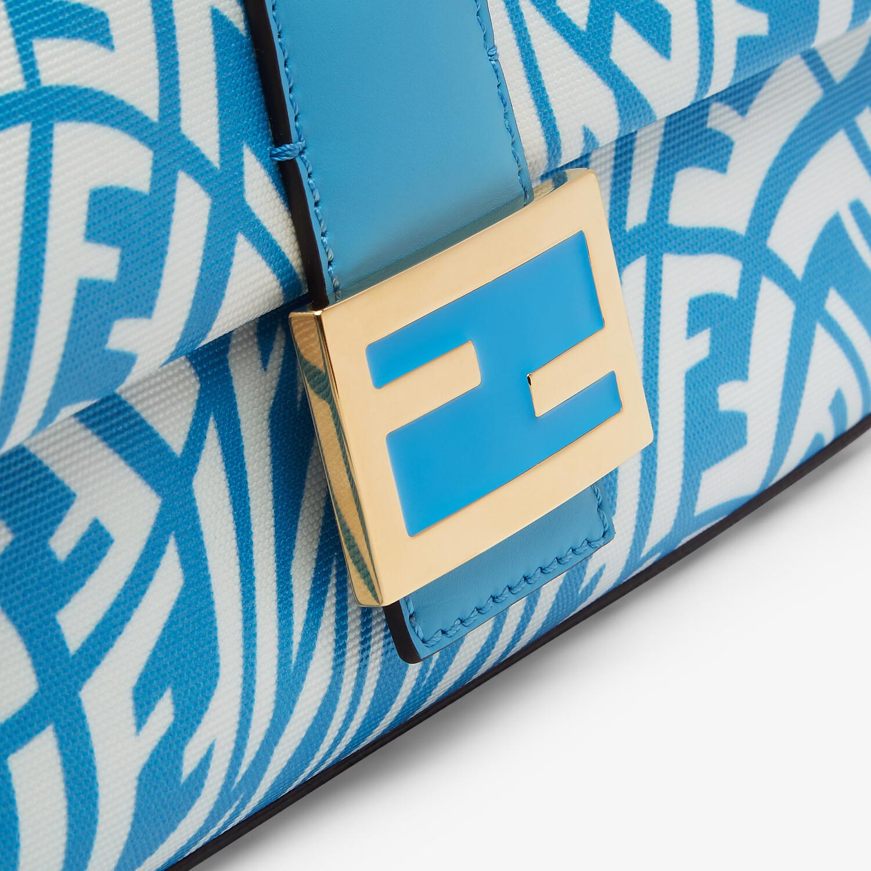 FENDI BAGUETTE 1997 - Blue glazed canvas bag - view 6 detail