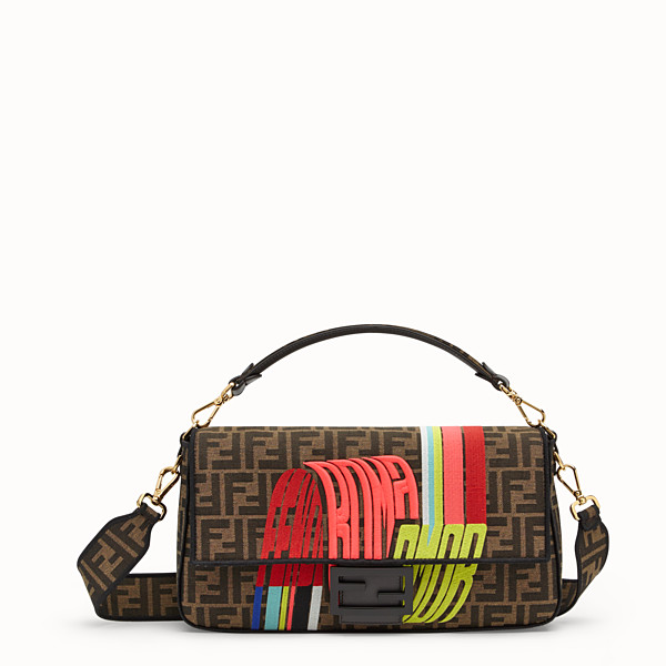 FENDI BAGUETTE LARGE - Fendi Roma Amor fabric bag - view 1 small thumbnail