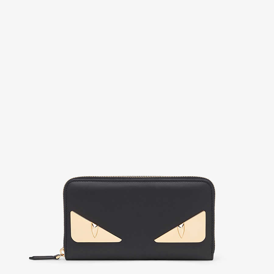 FENDI ZIP-AROUND - Black leather wallet - view 1 detail