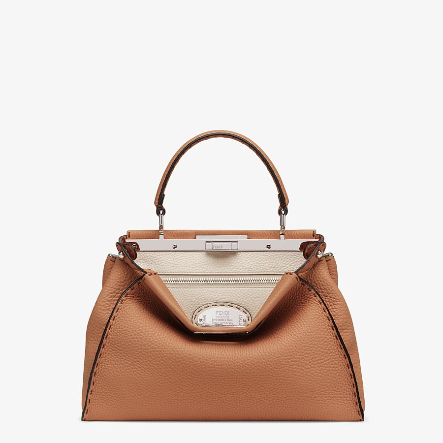 FENDI PEEKABOO ICONIC MEDIUM - Brown leather bag - view 1 detail