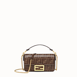 FENDI BAGUETTE MINI CAGE - Multicolour leather and fabric bag - view 3 thumbnail