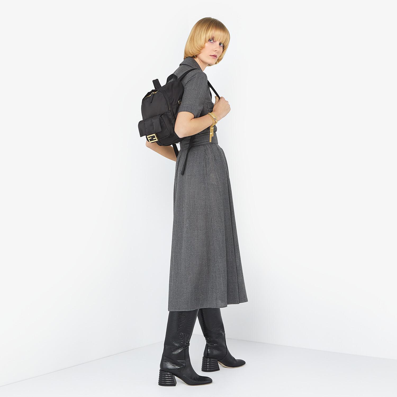 FENDI BAGUETTE BACKPACK - Black nylon backpack - view 2 detail