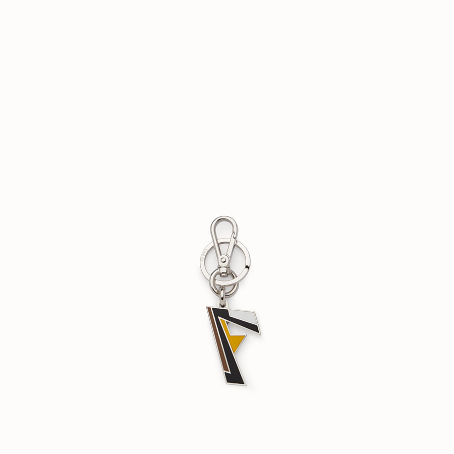 FENDI KEY RING - Palladium-finish metal key ring - view 1 detail