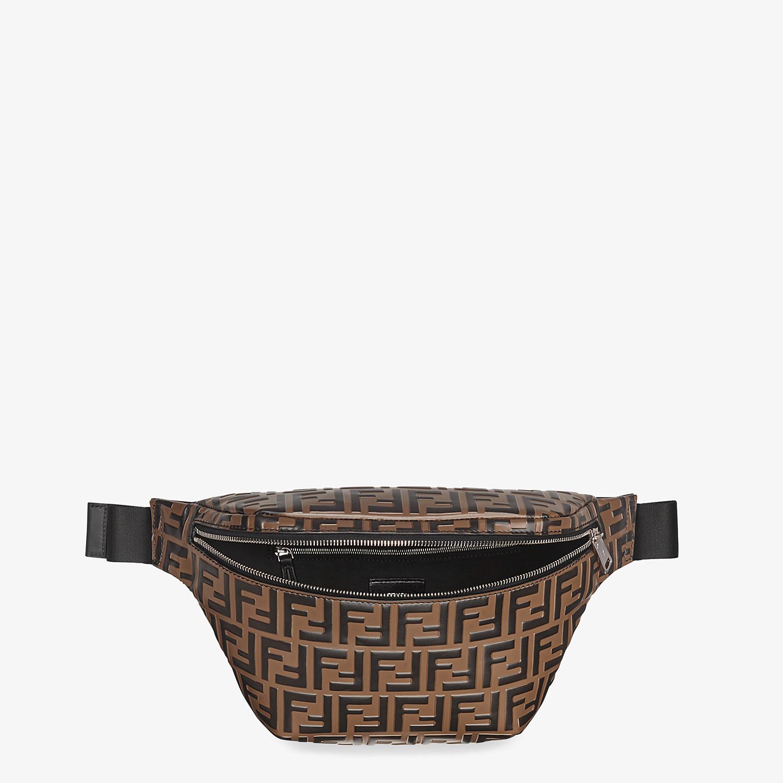 FENDI BELT BAG - Brown leather belt bag - view 4 detail