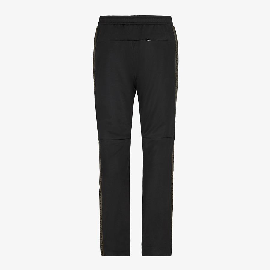 FENDI PANTALONE - Pantalone in tessuto nero - vista 2 dettaglio