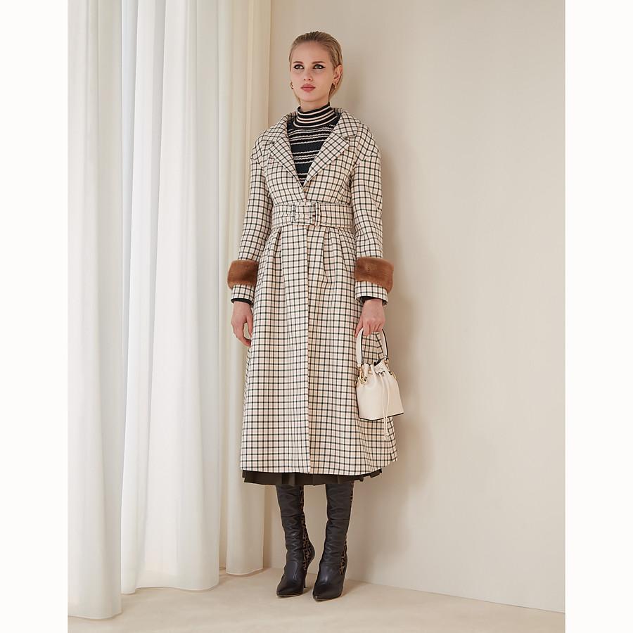 FENDI OVERCOAT - Pink wool coat - view 4 detail
