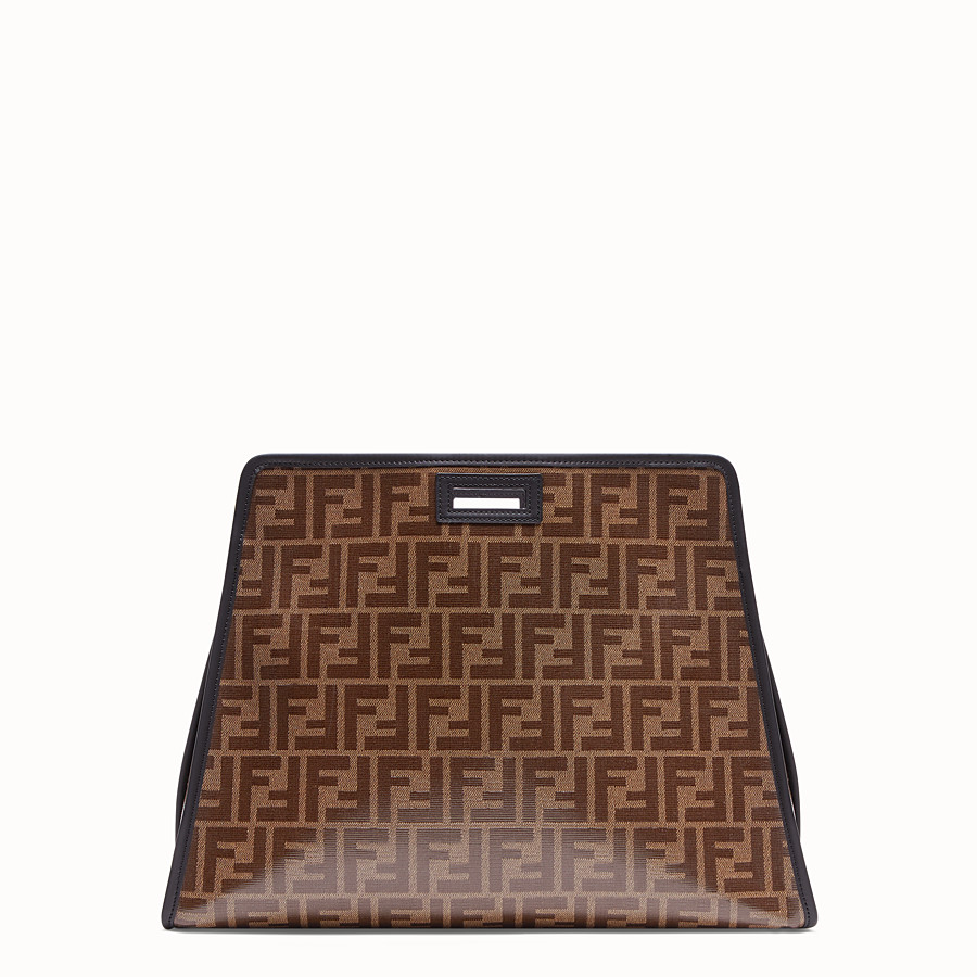 FENDI MEDIUM PEEKABOO DEFENDER - Peekaboo cover in brown fabric - view 3 detail