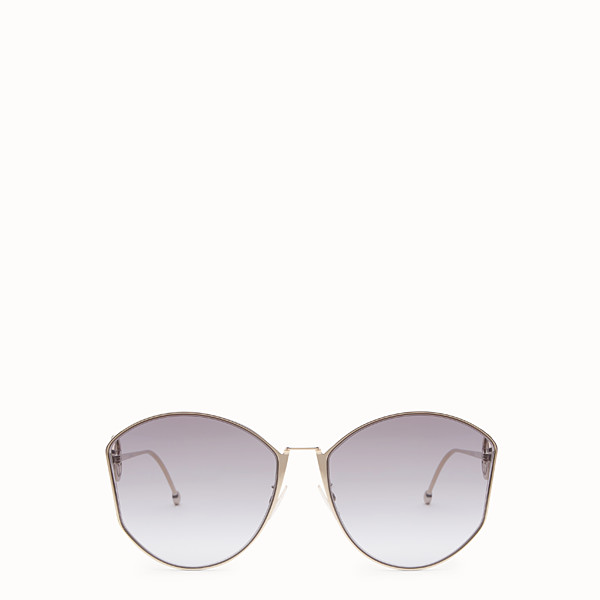 FENDI F IS FENDI - Gold-colour Asian Fit sunglasses - view 1 small thumbnail