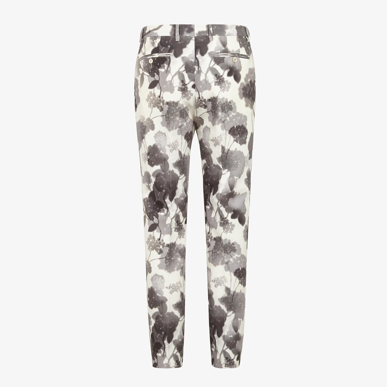 FENDI PANTS - White canvas pants - view 2 detail