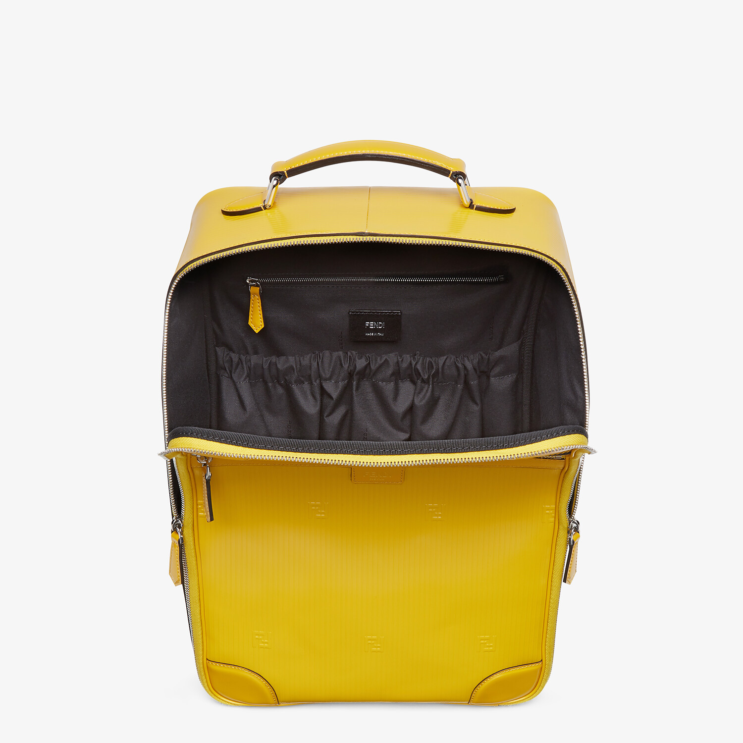 FENDI TRAVEL BACKPACK - Yellow leather backpack - view 4 detail
