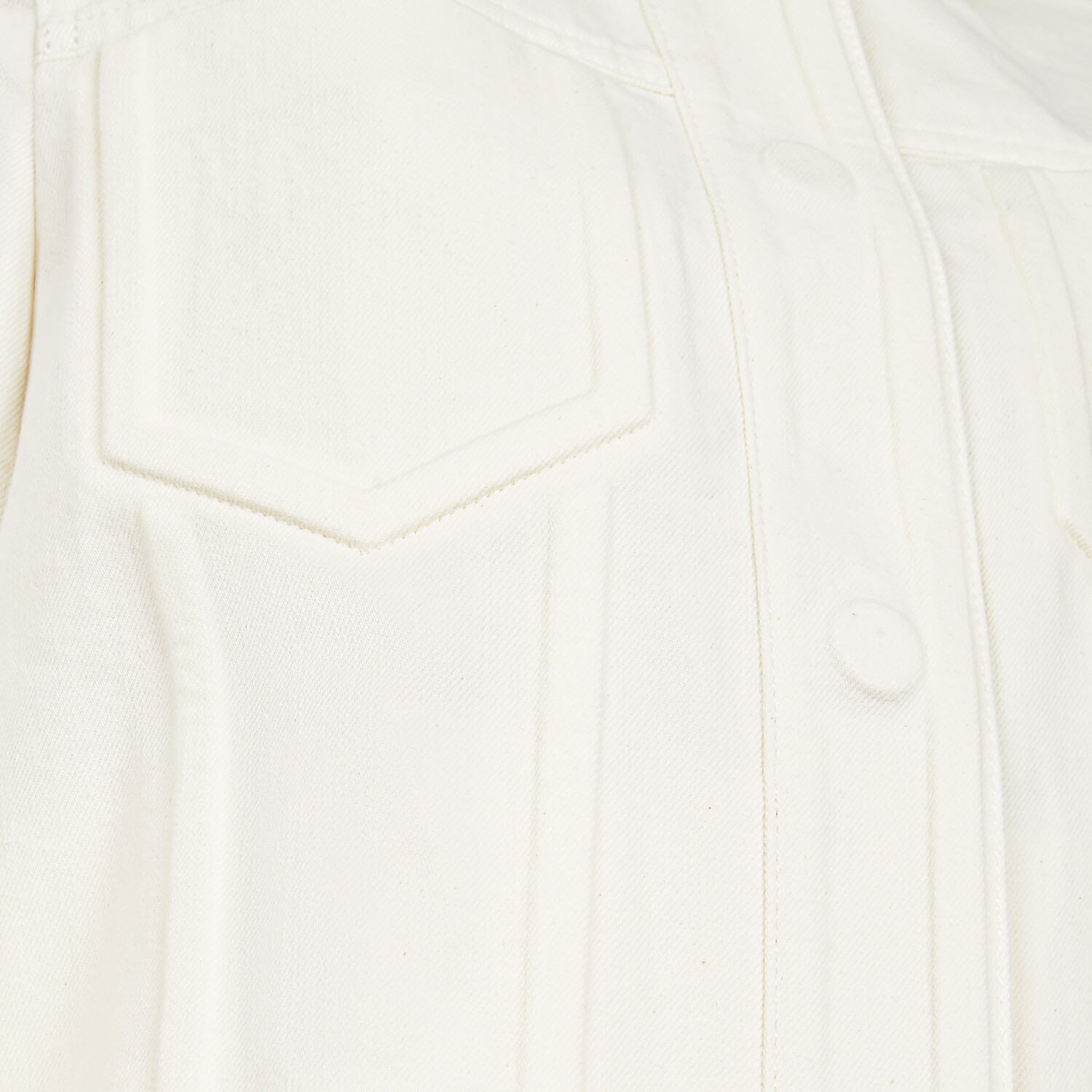FENDI JACKET - White denim jacket - view 3 detail