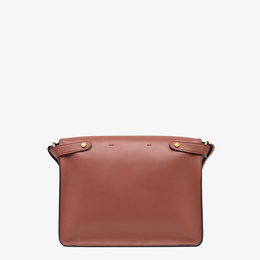 FENDI KAN U LARGE - Red leather bag - view 4 detail
