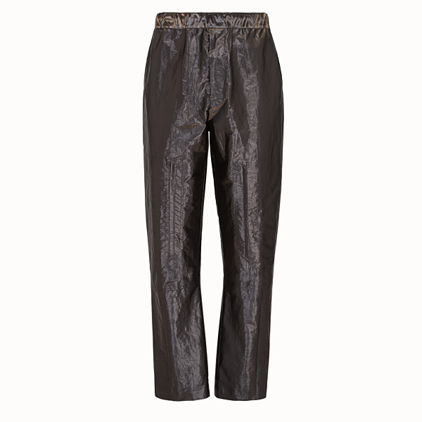 FENDI TROUSERS - Metallic nylon trousers - view 1 small thumbnail