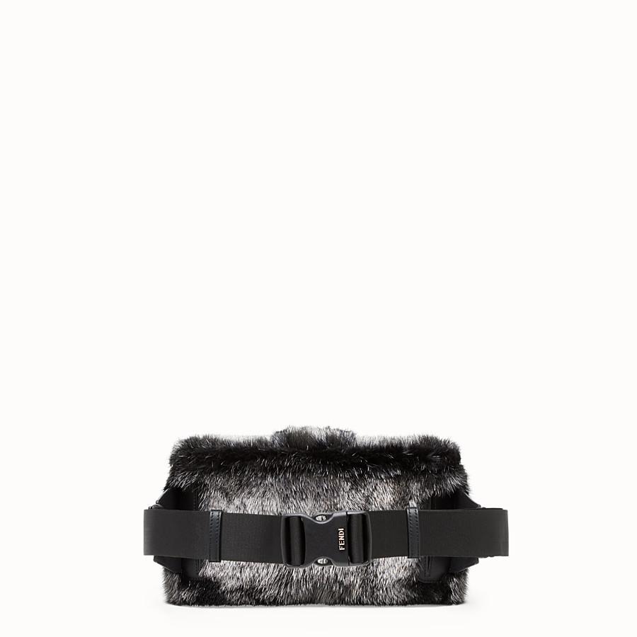 FENDI BAGUETTE - Silver mink bag - view 3 detail