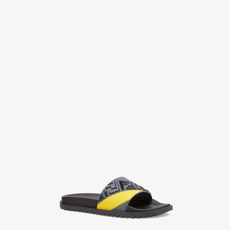 FENDI PANTOLETTEN - Fußbett aus mehrfarbigem Gummi - view 2 detail