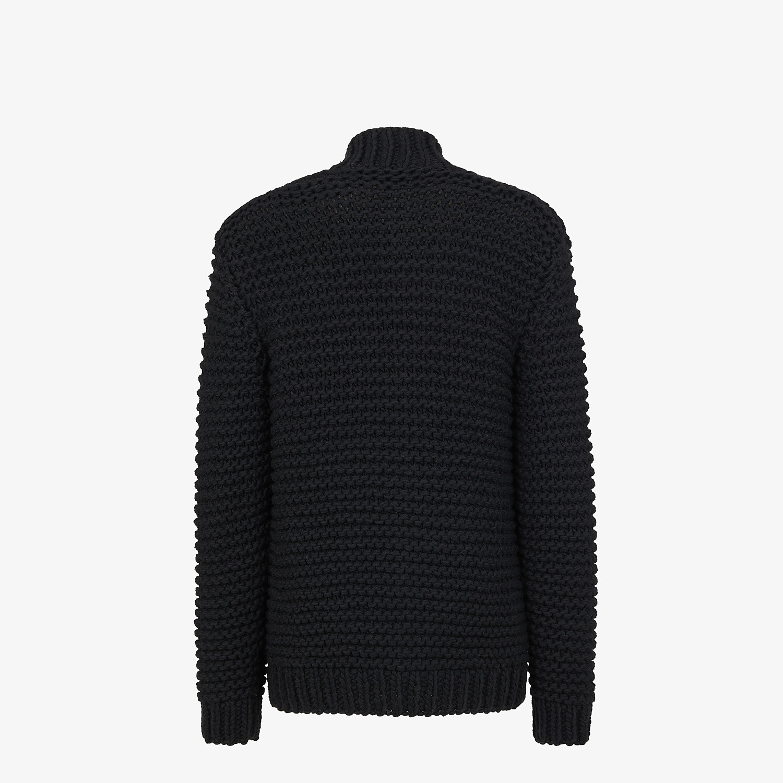 FENDI CARDIGAN - Black wool cardigan - view 2 detail