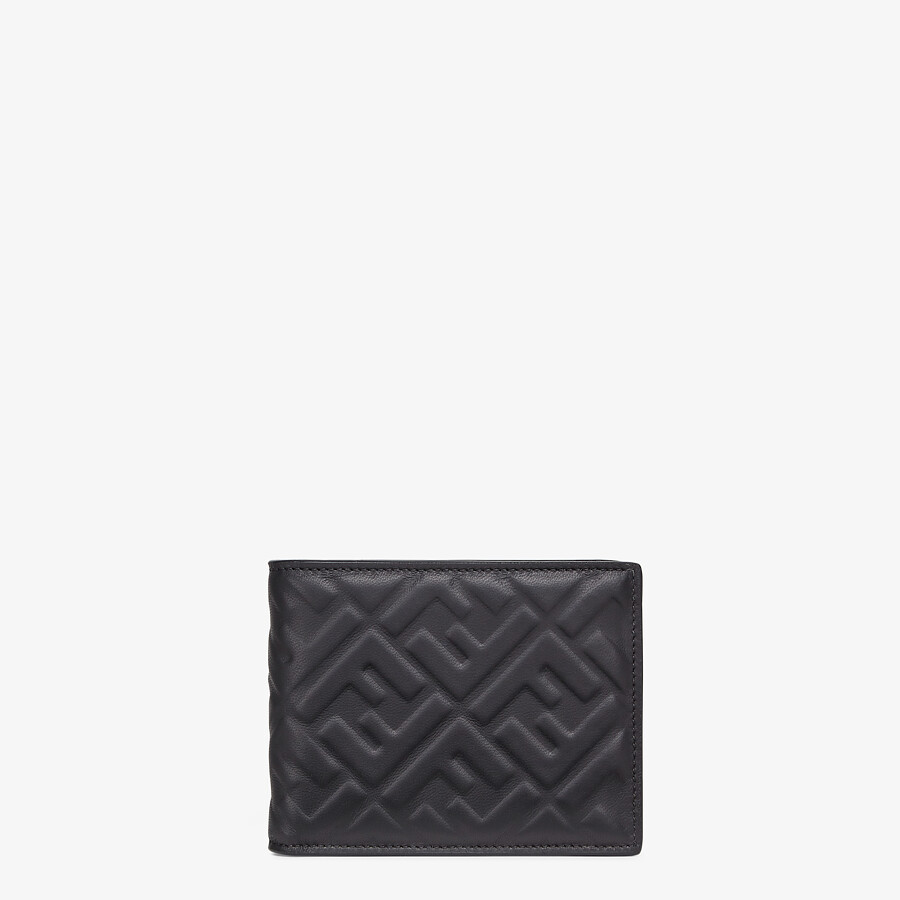 FENDI WALLET - Black nappa leather bi-fold wallet - view 1 detail
