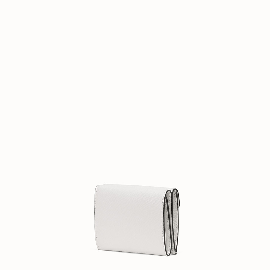 FENDI MICRO TRIFOLD - White leather wallet - view 2 detail